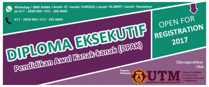 Diploma Eksekutif Pendidikan Awal Kanak-kanak (DPAK)